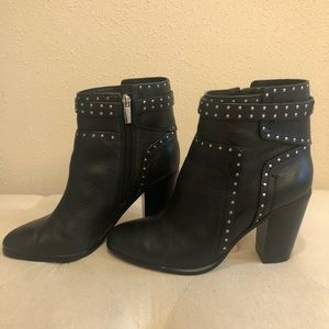Vince Camuto Black Ankle Boots with Studs